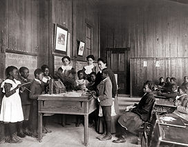 African American children learning about
