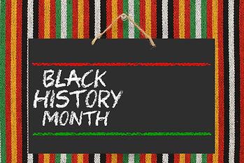 Black History Month Blackboard hanging o