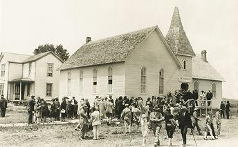 Congregational Church after Sunday servi