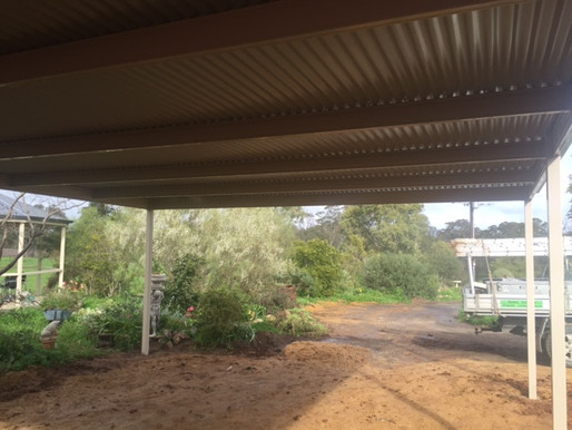 What roof sheets can you use for a flat roof verandah?