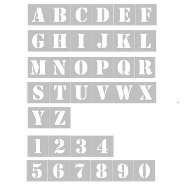 REUSABLE LETTERS & NUMBERS KIT