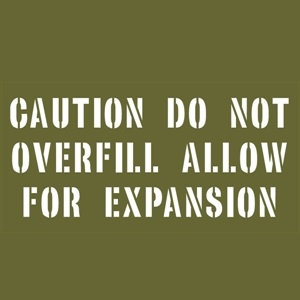 CAUTION DO NOT OVERFILL