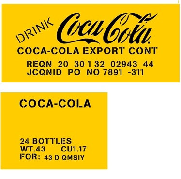 WWII Coca Cola Crate stencil Kit