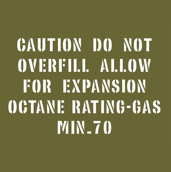 OCTANE RATING FOR VEHICLE