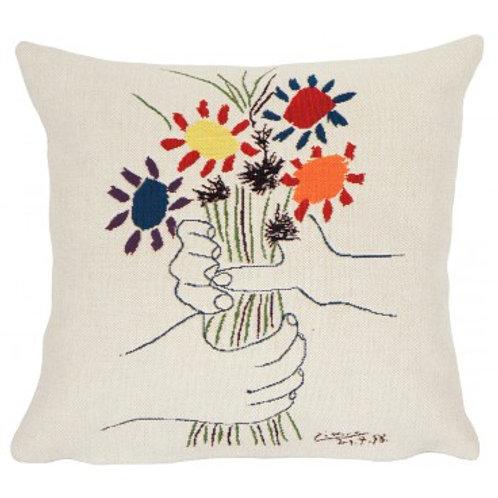 Coussin Fleurs et mains - Picasso - Jules Pansu
