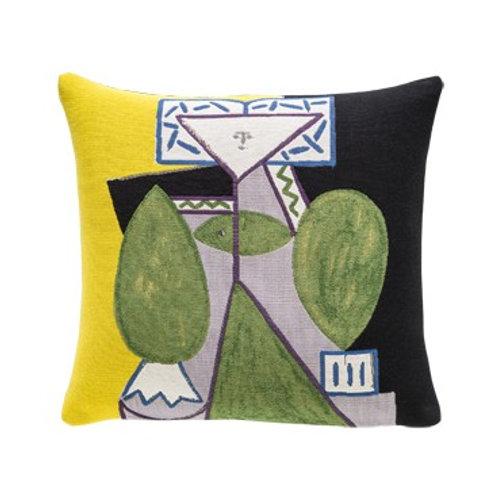 Coussin Femme en vert et mauve 1947 - Picasso - Jules Pansu