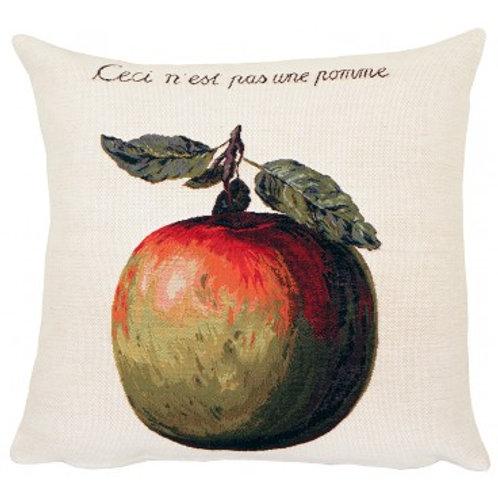 Coussin Ceci n'est pas une pomme - Magritte - Jules Pansu