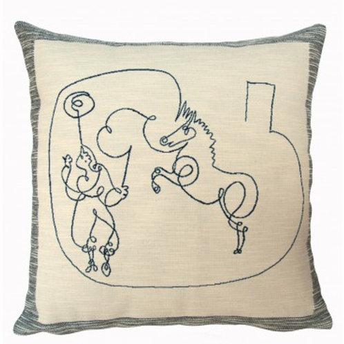 Coussin Cheval et dresseur 1920 - Picasso - Jules Pansu