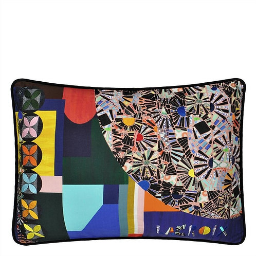 Coussin Mosaic freak multicolore - Designers Guild