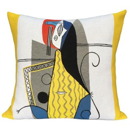 Coussin Femme dans un fauteuil - Picasso - Jules Pansu