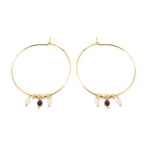 Grandes boucles d'oreilles Esmeraldae - Alix D. Reynis