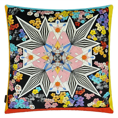 Coussin Flowers Galaxy multicolore - Designers Guild