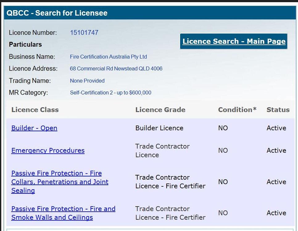 Fire Certification Australia Pty Ltd---.