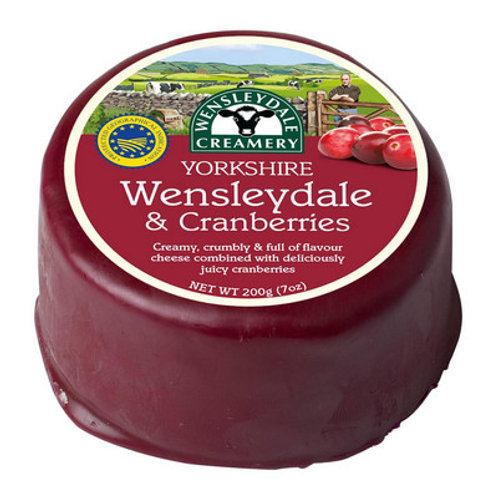 Wensleydale and Cranberry 200g
