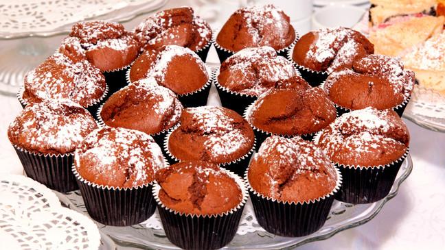 Schoko-Muffins für Kuchenbuffet