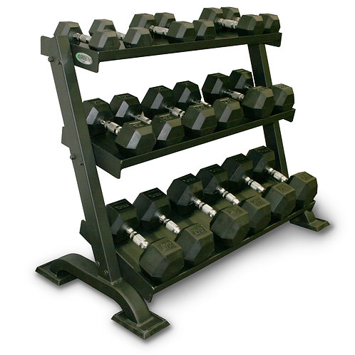 Green Series Three Tier Dumbbell Rack (Dumbbells Not Included)