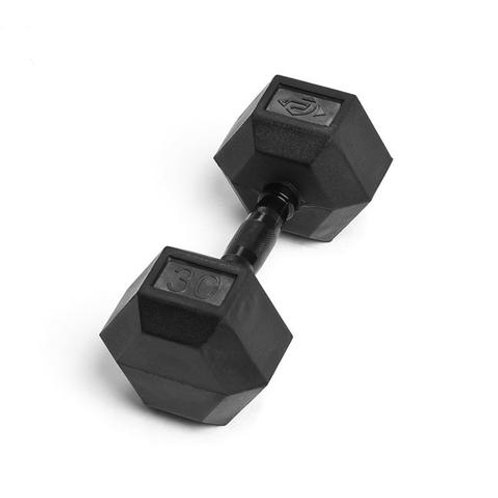 30LB VIRGIN RUBBER HEX DUMBBELL NO ODOR SDVR-30
