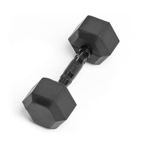 12LB VIRGIN RUBBER HEX DUMBBELL NO ODOR SDVR-12