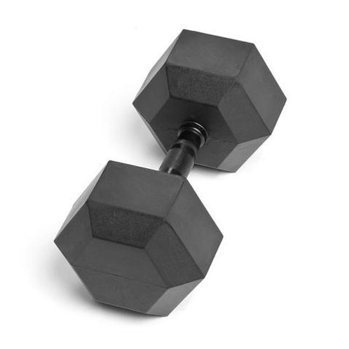 95LB VIRGIN RUBBER HEX DUMBBELL NO ODOR SDVR-95