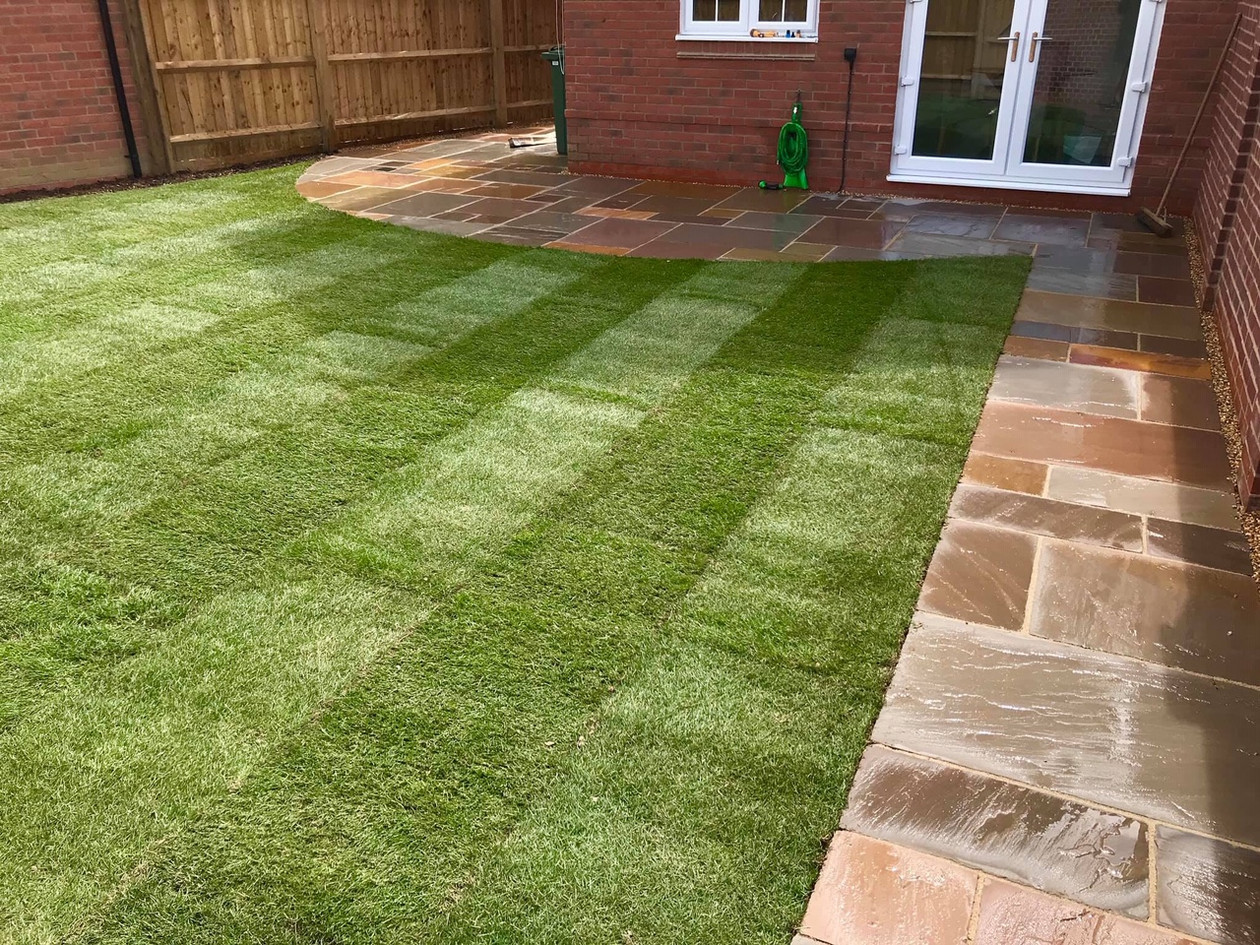 Patio & Turfing