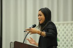 Rosario Dawson at Rider University