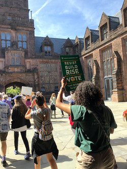 EcoReps and strikers march through Princeton campus