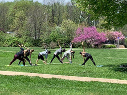 Yoga Class at Earth Day 2019