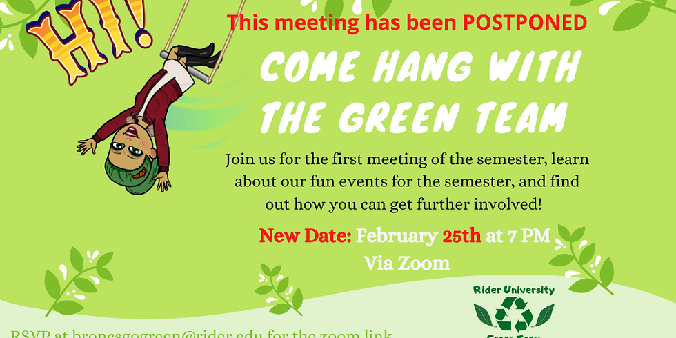Come Hang with the Green Team