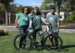 Eco Reps present bicycle prize for the Amazing Green Race