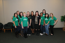 Rosario Dawson with the Rider Office of Sustainability