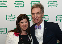 Director of Sustainability, Melissa Greenberg and Guest Speaker, Bill Nye