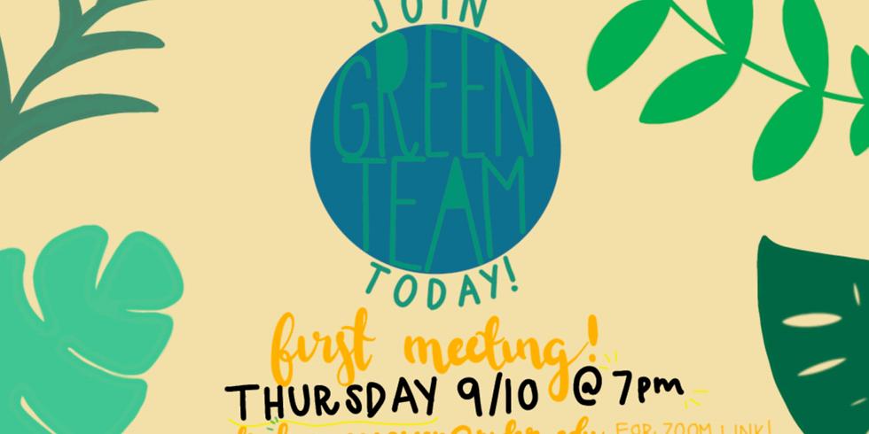 Green Team 1st Meeting