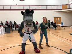 AJ the Bronc & an EcoRep bust a move at Earth Day 2018