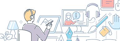 Digital learning cartoon
