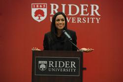 Rosario Dawson, Rider University Guest Speaker