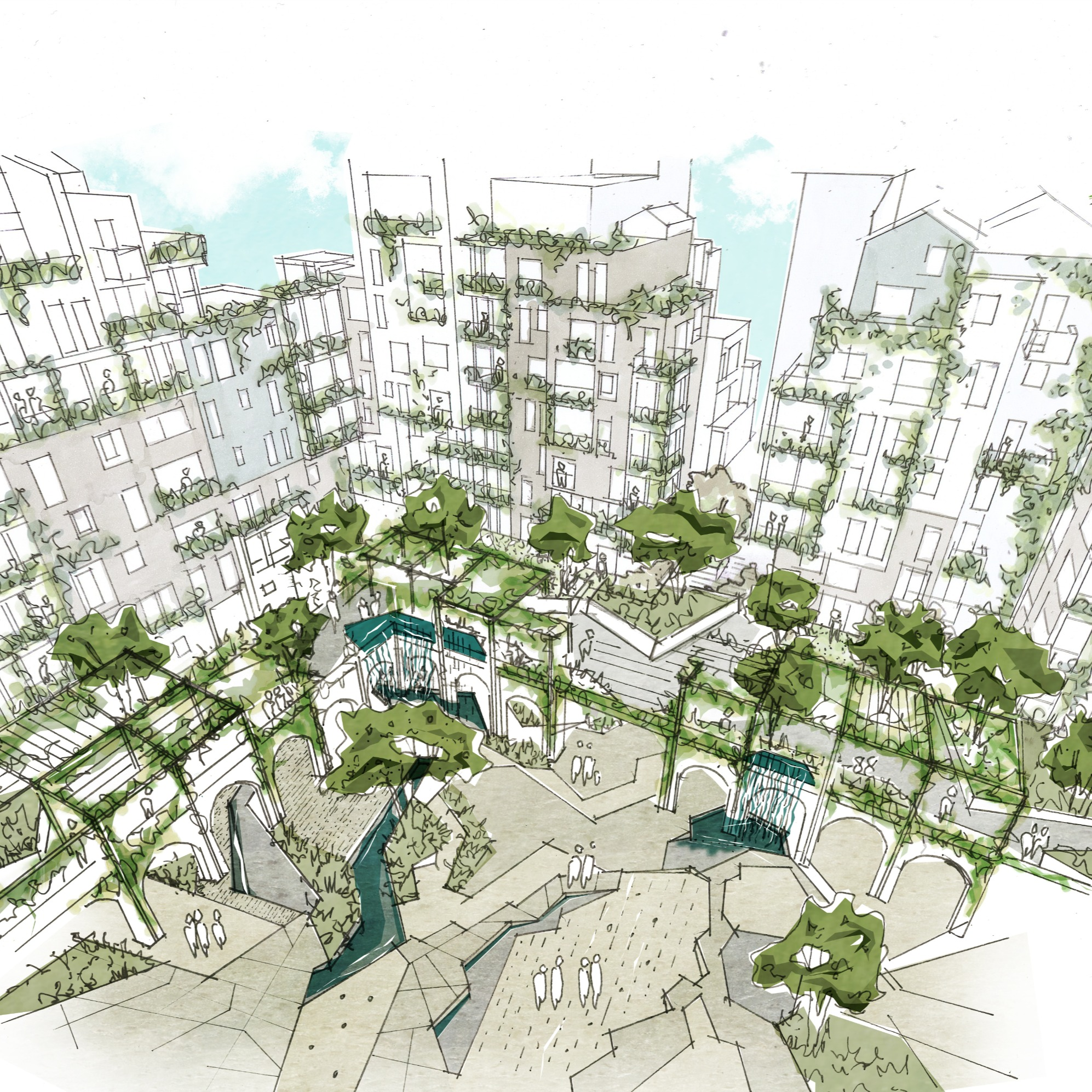 architectural visuals and sketches
