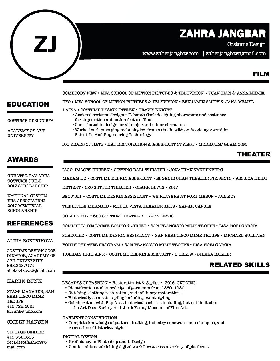 Resume | Zahra Jangbar
