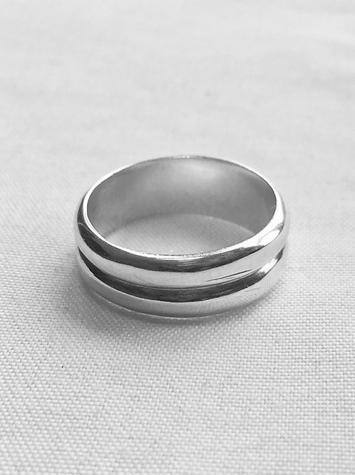 Double Sterling Silver Ring