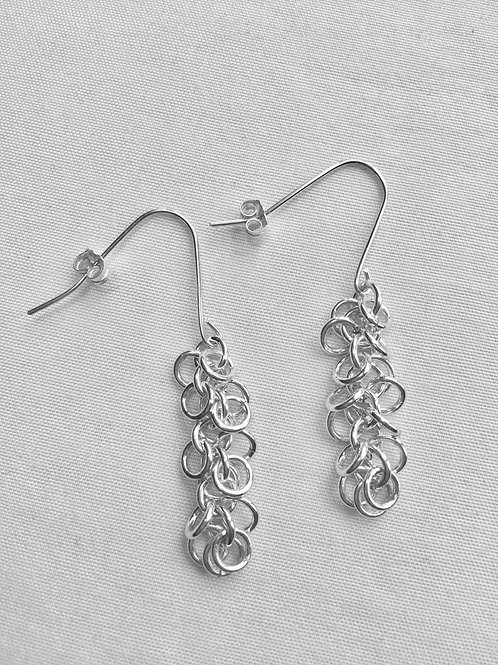 Flip Flop Sterling Silver Earrings