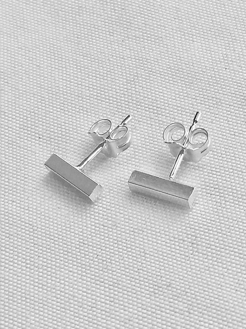 Sterling Silver Rectangle Studs