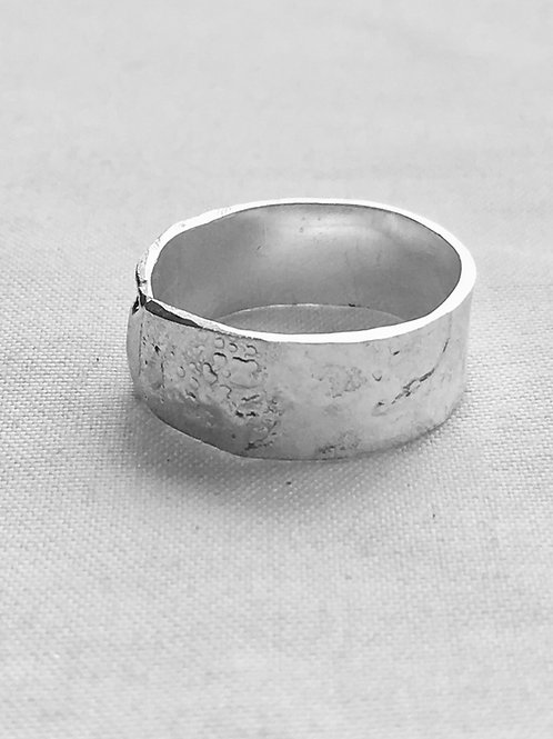 Reticulated Sterling Silver Band