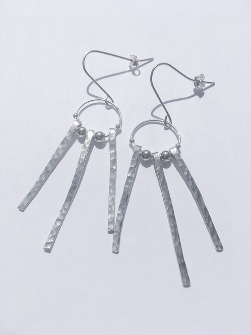 Sterling Silver Trifecta Earrings