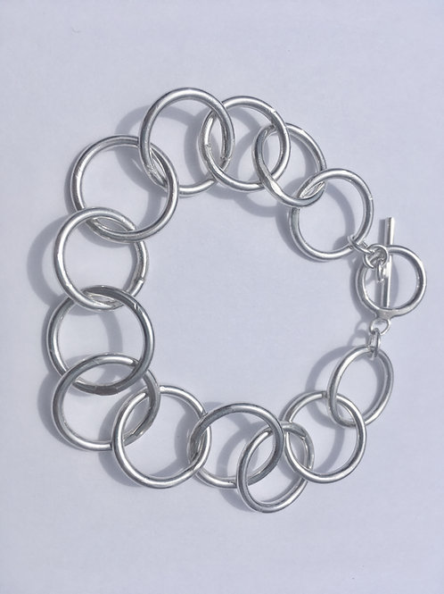 Sterling Silver Circle Chainmaille Bracelet