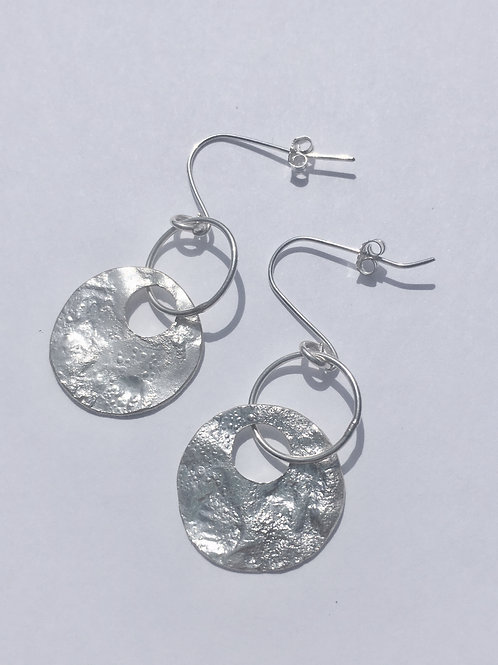 Sterling Silver Reticulated Jasmine Earrings
