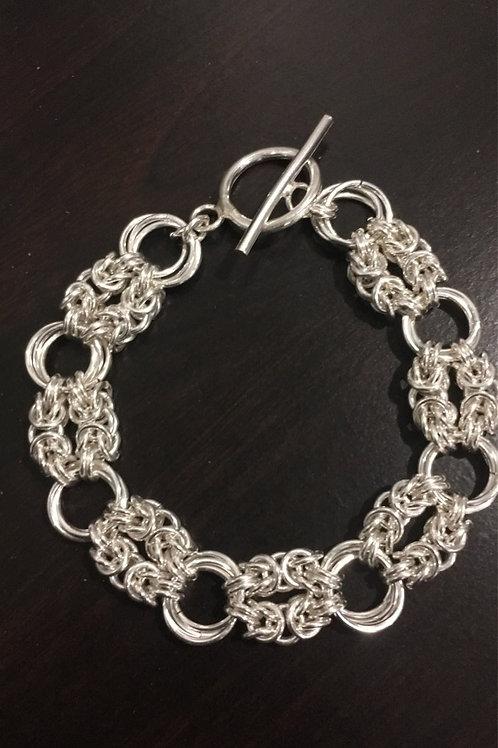 Double Byzantine Sterling Silver Bracelet