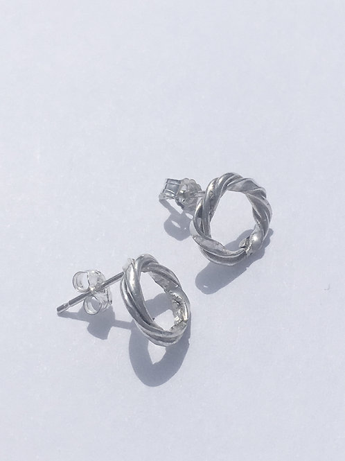 Twirled Sterling Silver Studs