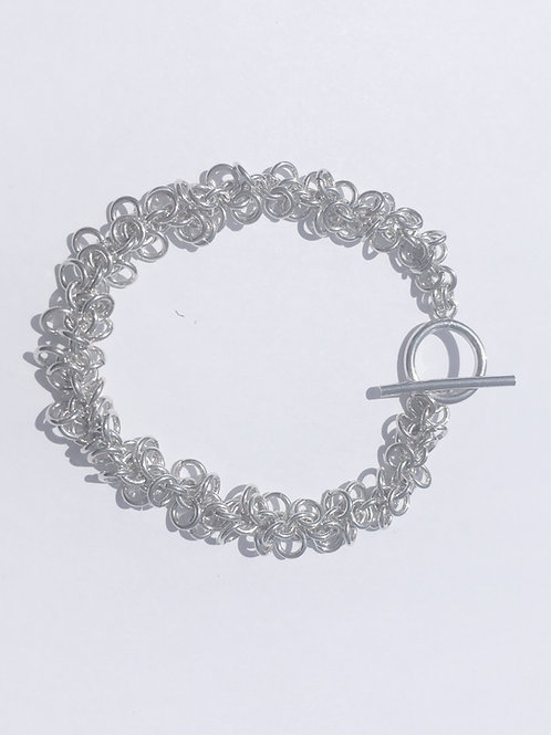 Sterling Silver Flip Flop Chainmaille Bracelet