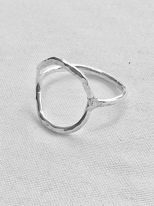 Hammered Sterling Silver Circle Ring