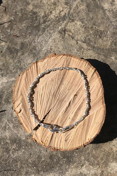 Sterling Silver Twisted Chain Bracelet/Anklet