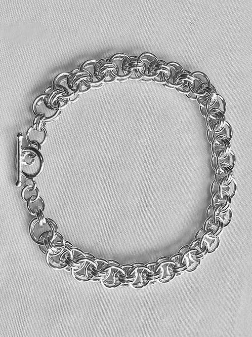 Sterling Silver Flat Chainmaille Bracelet